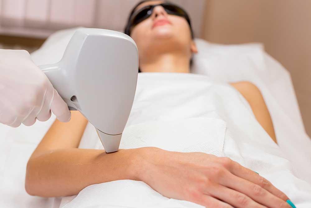 Bild: Medizinische Lasertherapie